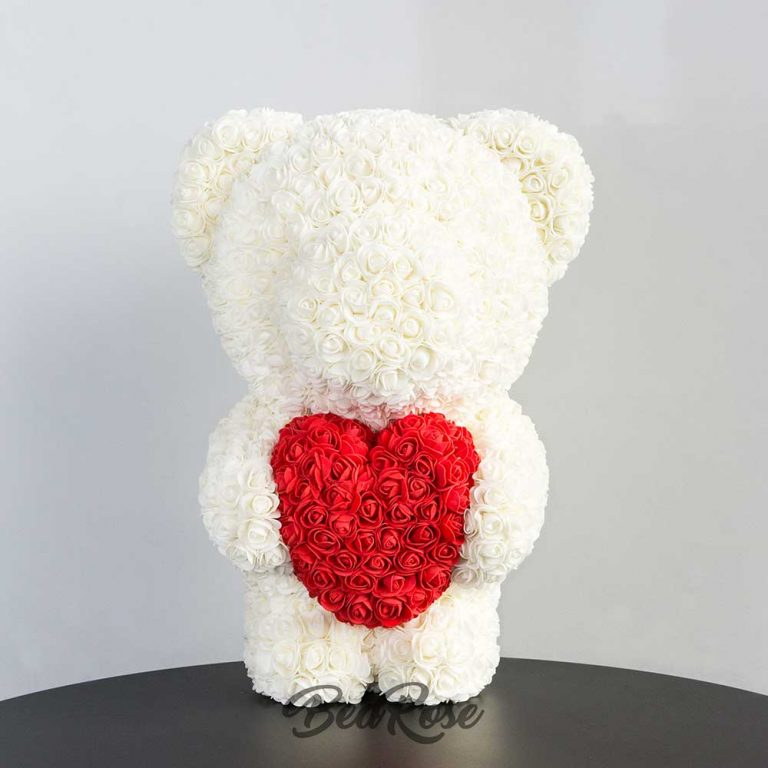 Ivory with Scarlet heart