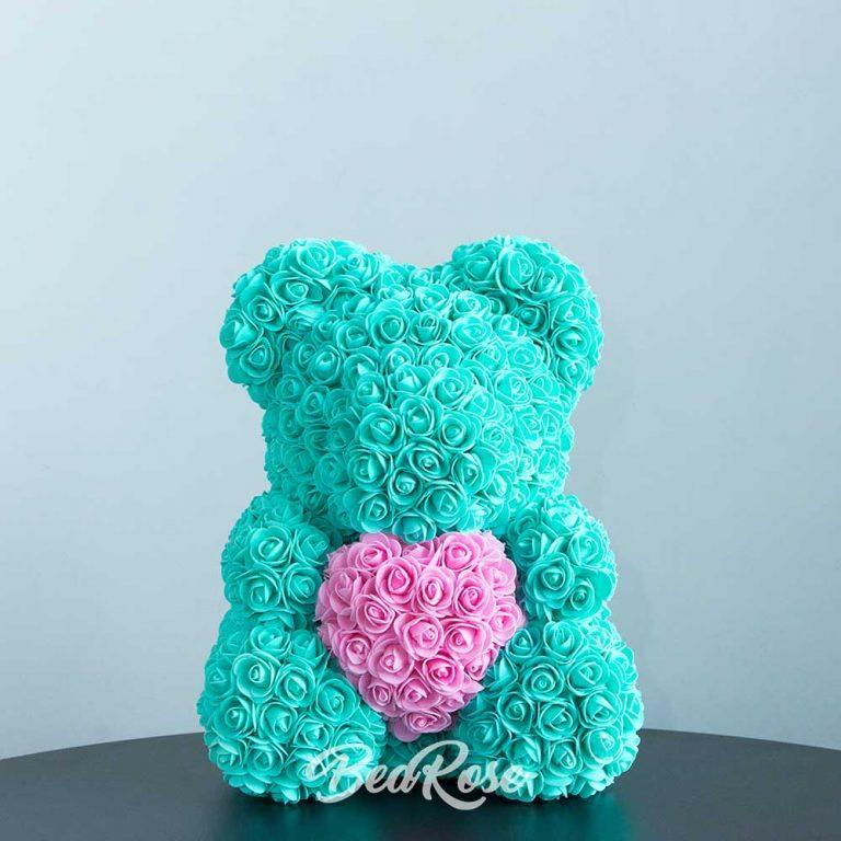 Tiffiany Green with Dark Pink heart