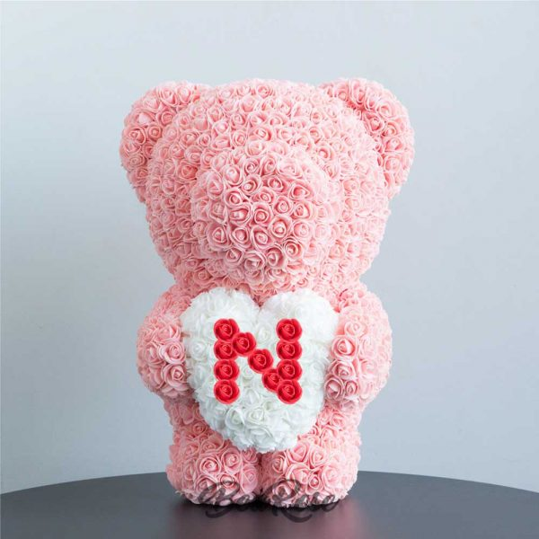 bearose-bear-rose-champagne-standing-bear-with-white-heart-red-letter-N-singapore-1